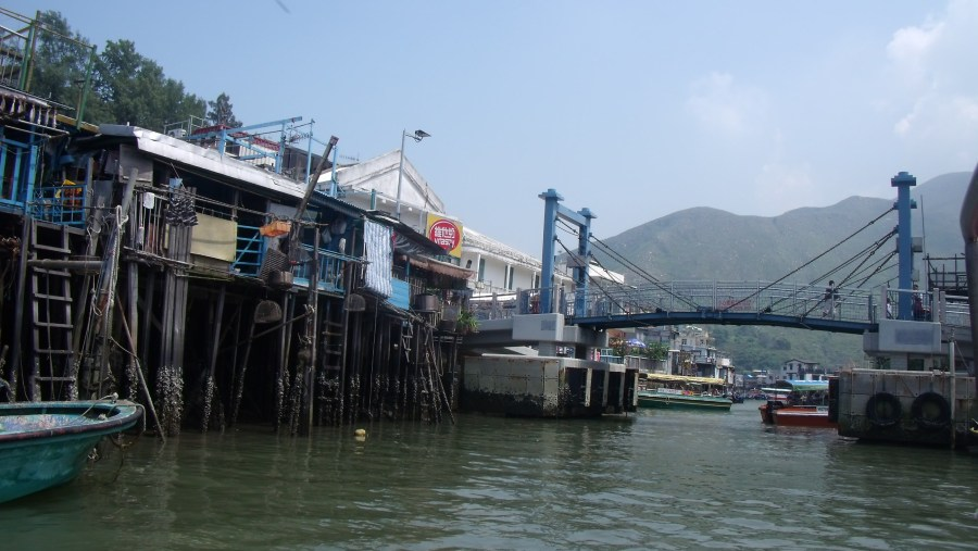Stilt houses and bascule bridge, Tai O