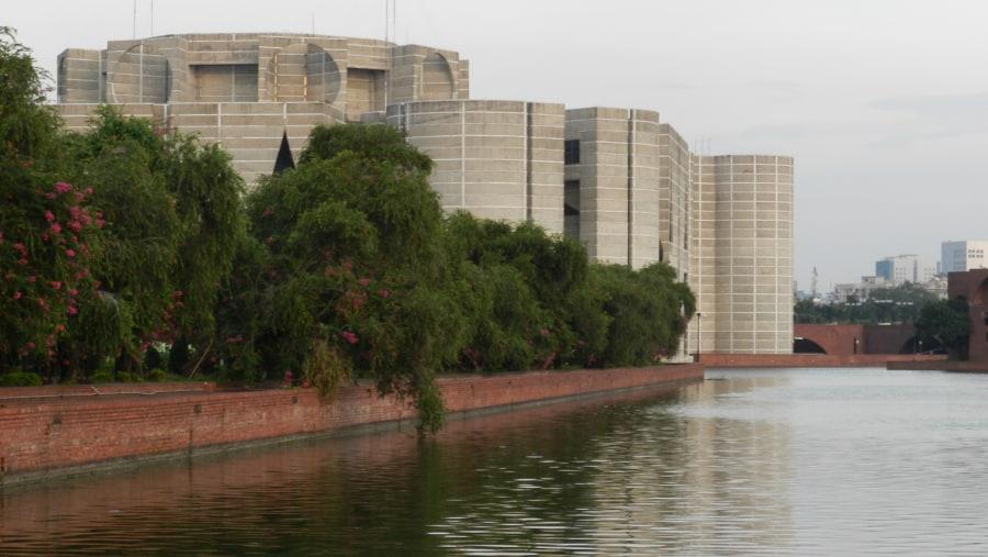 Adjacent lake of Parliament Building