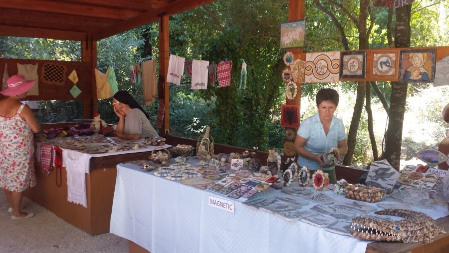 Souvenir market inside of park