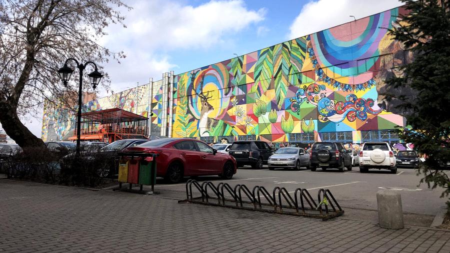 The biggest mural