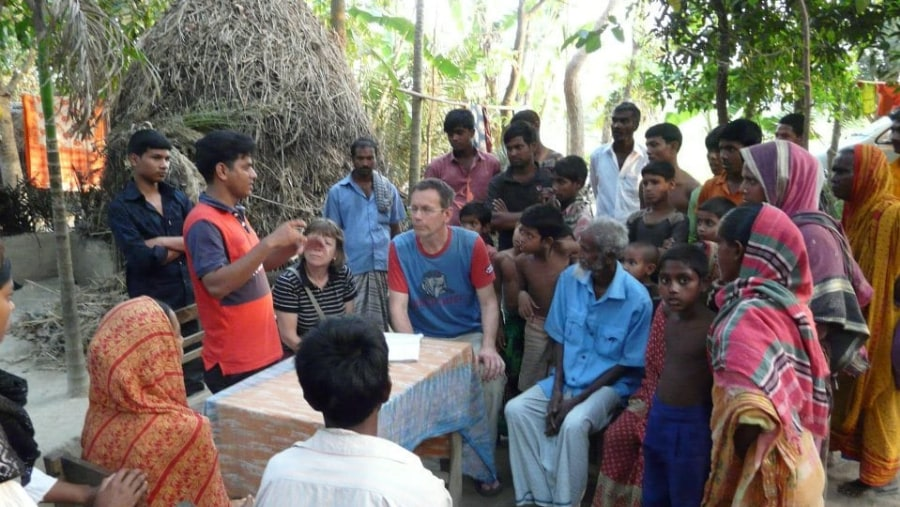 Meet with local people