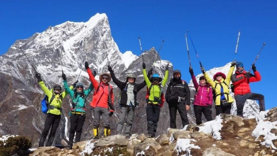 Trekkers happens after arrived destination