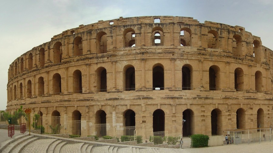 the amphitheatre of el jem, the second well conserved one in the world after the one in rome