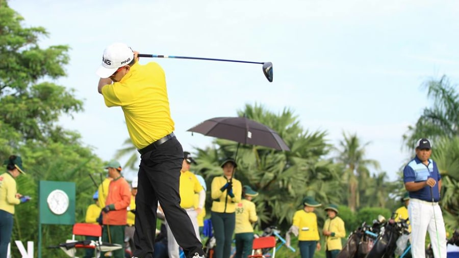 Playing Golf at Luang Prabang Golf Club