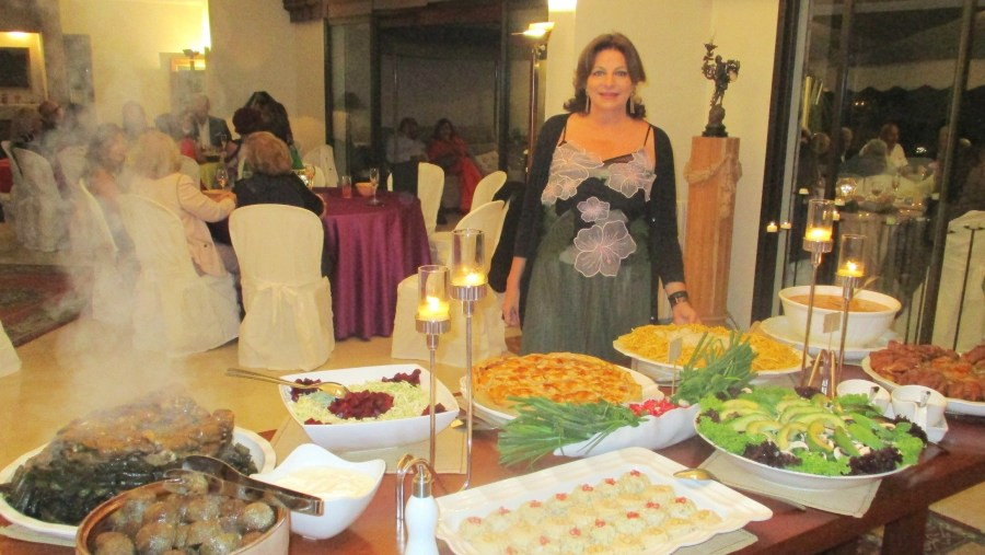 Private welcome dinner in the Lebanese mountain of Baabdat (2018-09)