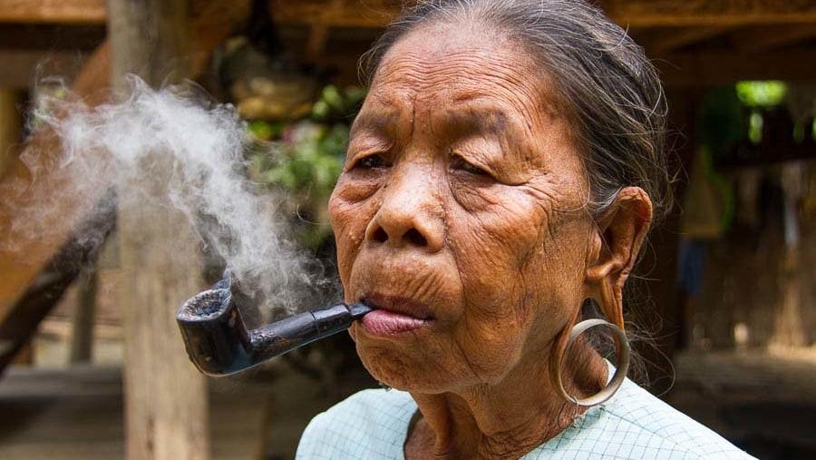 Thet tribal woman