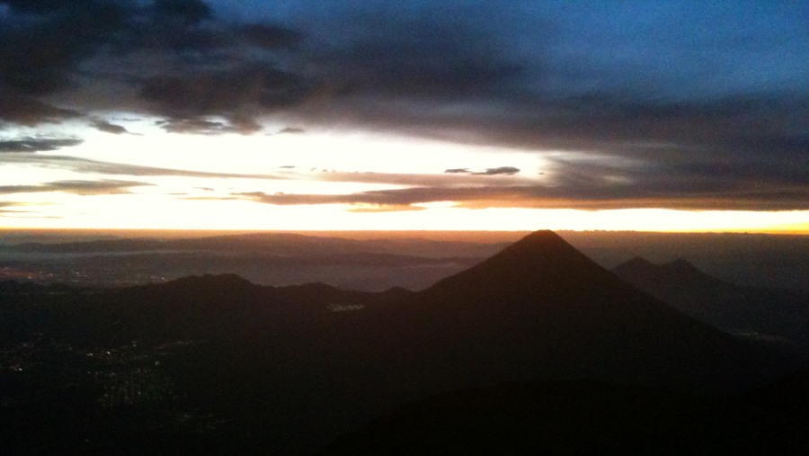 View to the southeast from the summit during sunrise