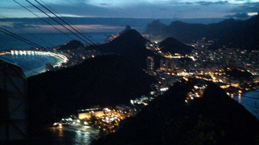 From Sugar Loaf to Botafogo, Humaitá and Copacabana Beach on the left