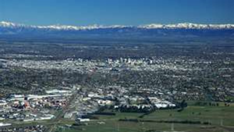 Christchurch and the Southern Alps