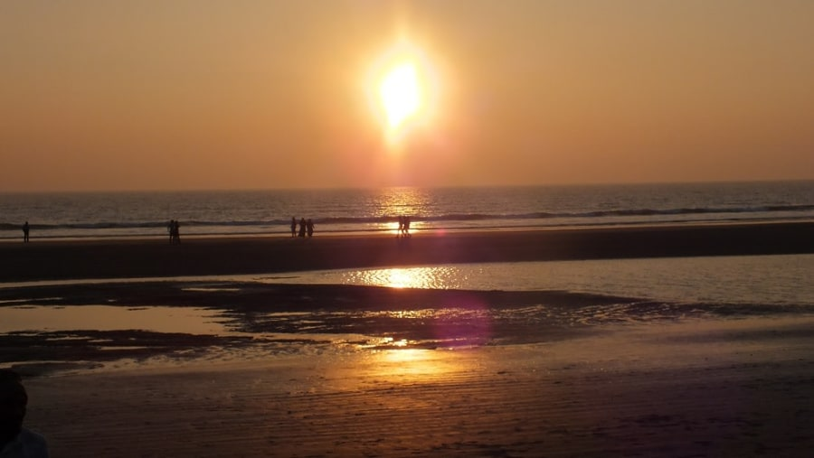 Watching Sun set @ Cox's Bazar Sea Beach