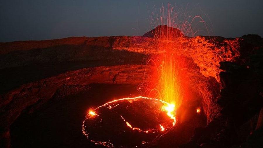 Earta ale active volcano ethiopia