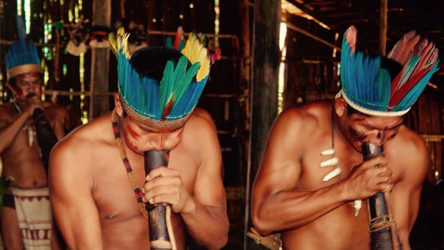 Dessana Tribe Members Playing Music