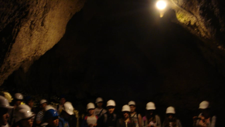 School kids inside the Barac caves
