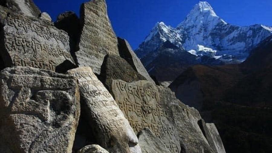 Amadablam with holi stone