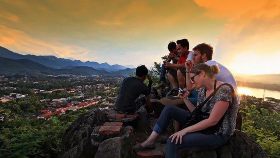 Mount Phousi for Sunset watching