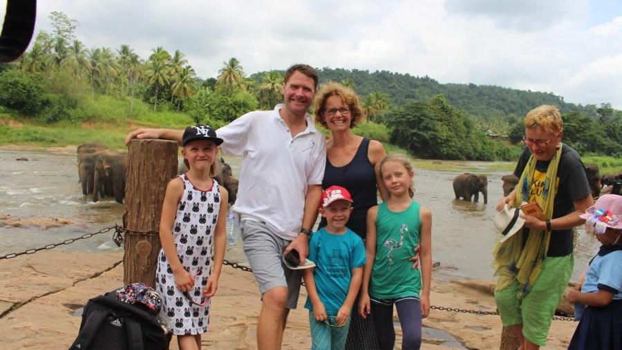 Kidz are happy with Elephants