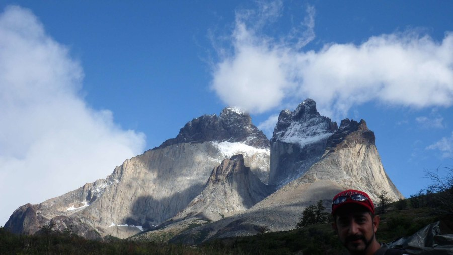 Trekking in National Park Torres del Paine, Patagonia, Chile.
