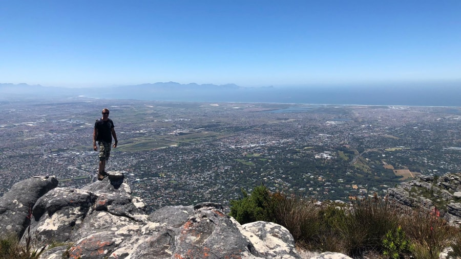 Spectacular scenery from the top of Table Mountain