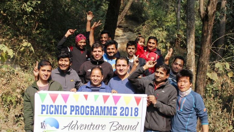 Adventure bound Staff with Picnic banner
