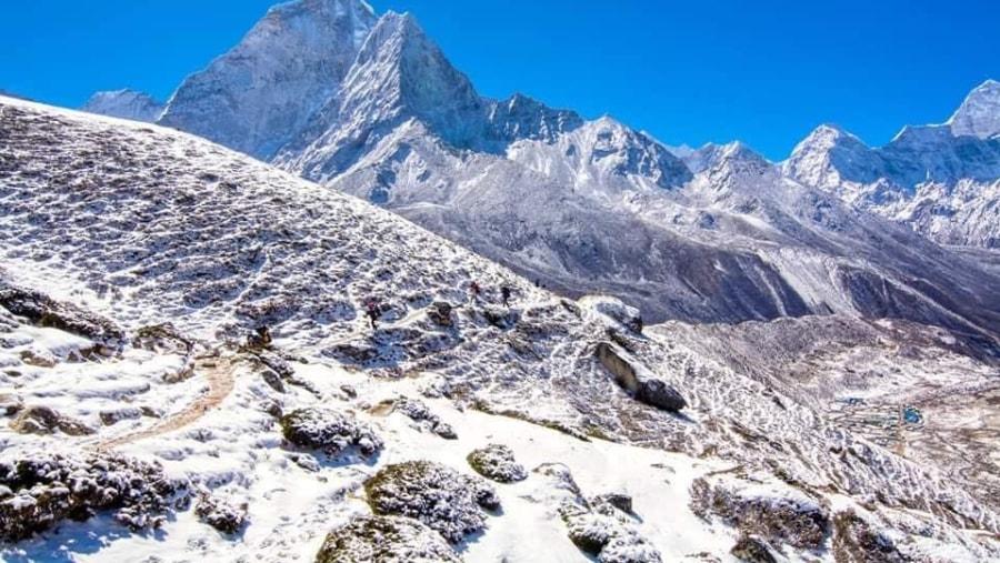 Amadablam with panoramic view
