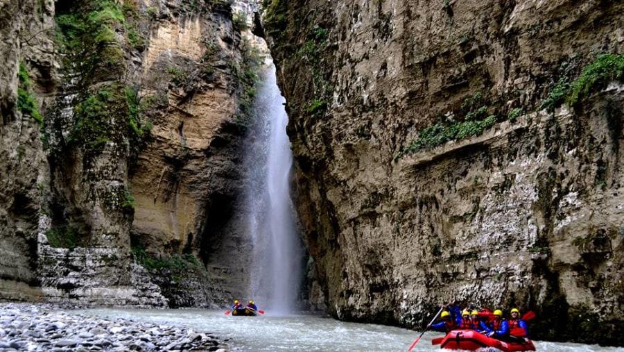 Braib veil Waterfall ,Osumi Canyons, Albania Rafting Tours