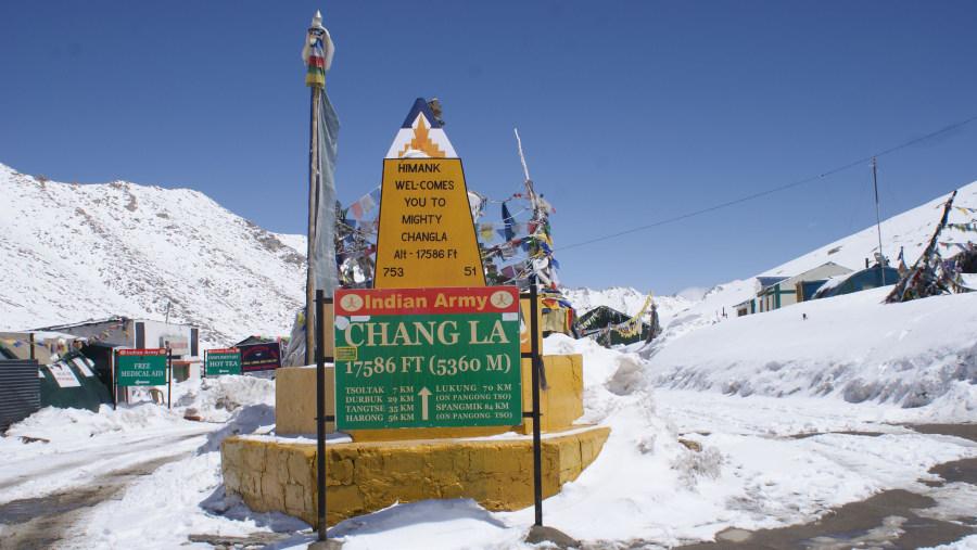Changla pass, (3rd highest pass in the world)