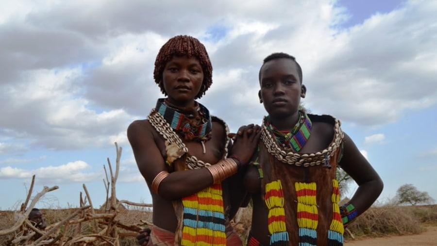 Girls From Hamer Tribe
