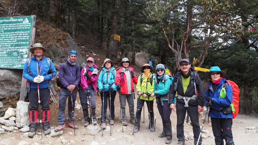 Trekkers Nepal team to EBC