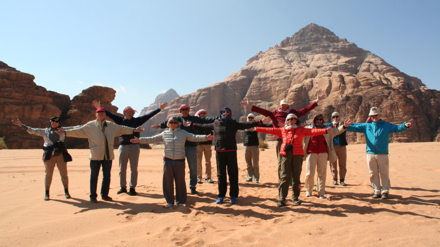 Sunny day in the cold Wadi Ramm