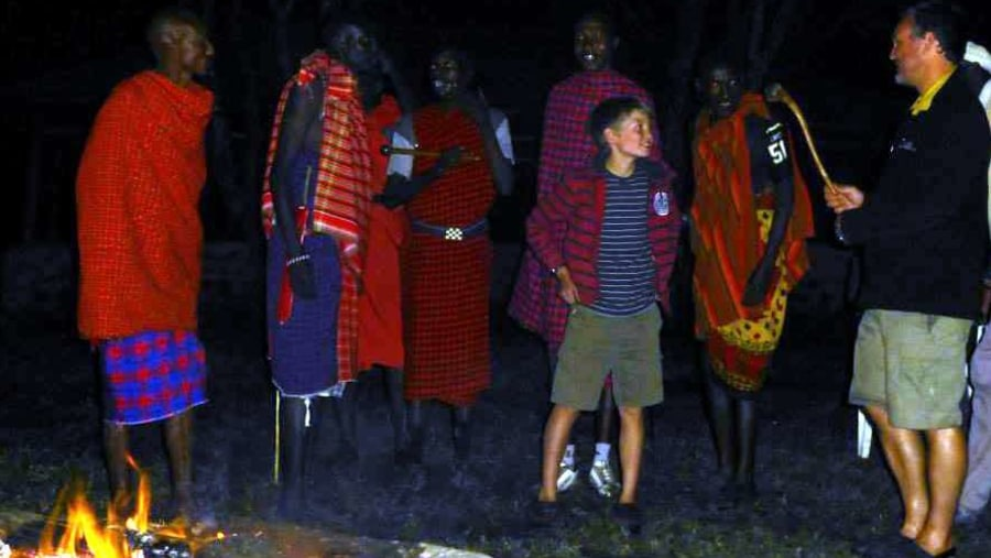 An evening with the Masai