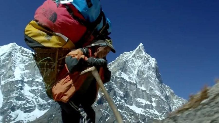 Sherpa at himalaya area