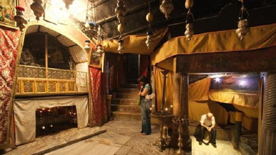 Here where jesus was born in the stable