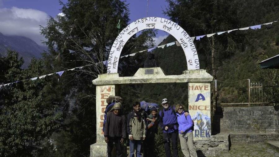 Everest base camp entrance