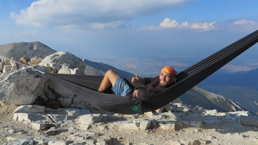 2914m. altitude - perfect for sleeping in hammock!