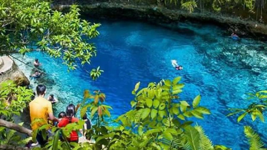 Enchanted River in Hinatuan, Surigao del Sur