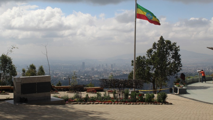 View of Addis Ababa from Entoto Park