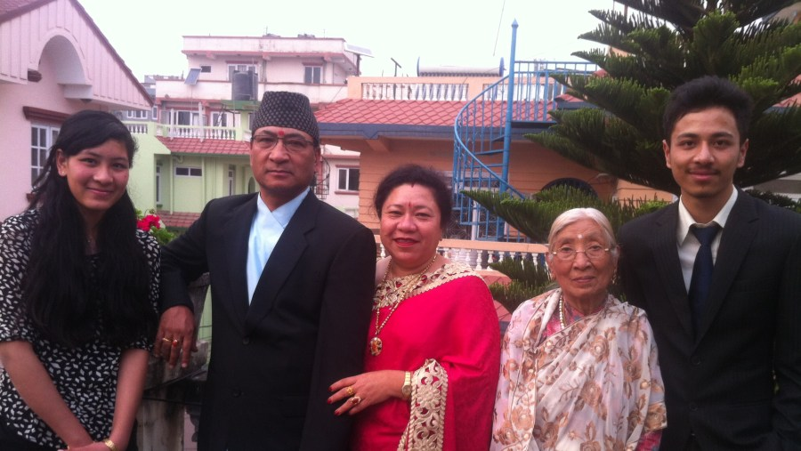 My family with my Mom