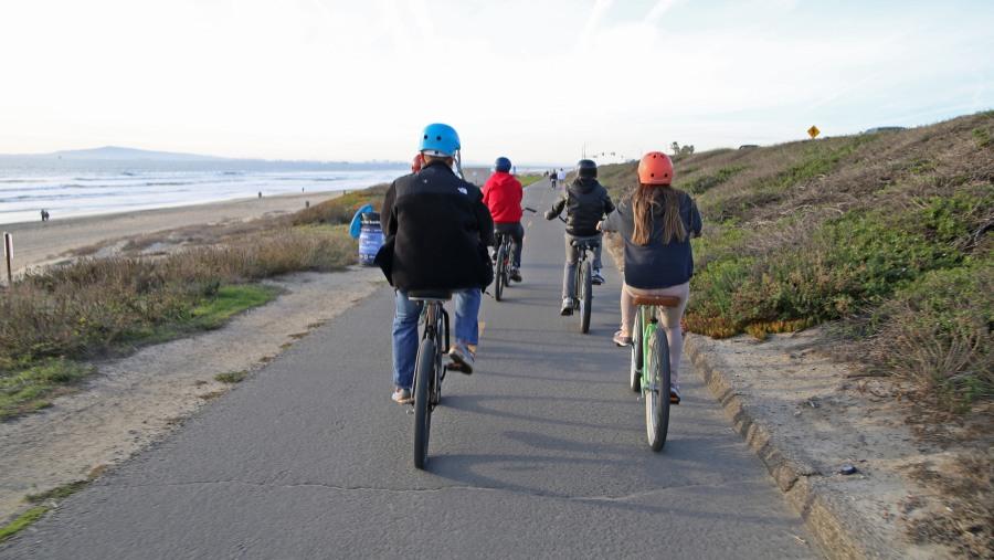 Biking along the Pacific