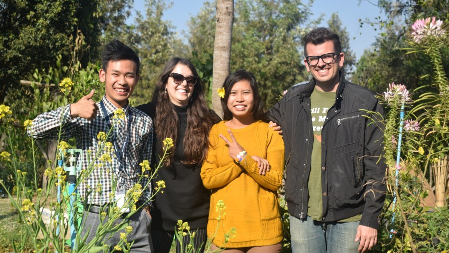 Organic Farming Study trip with two US foreingers