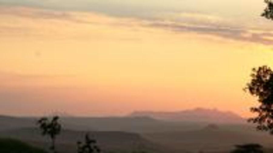 Sunrise over Lesotho