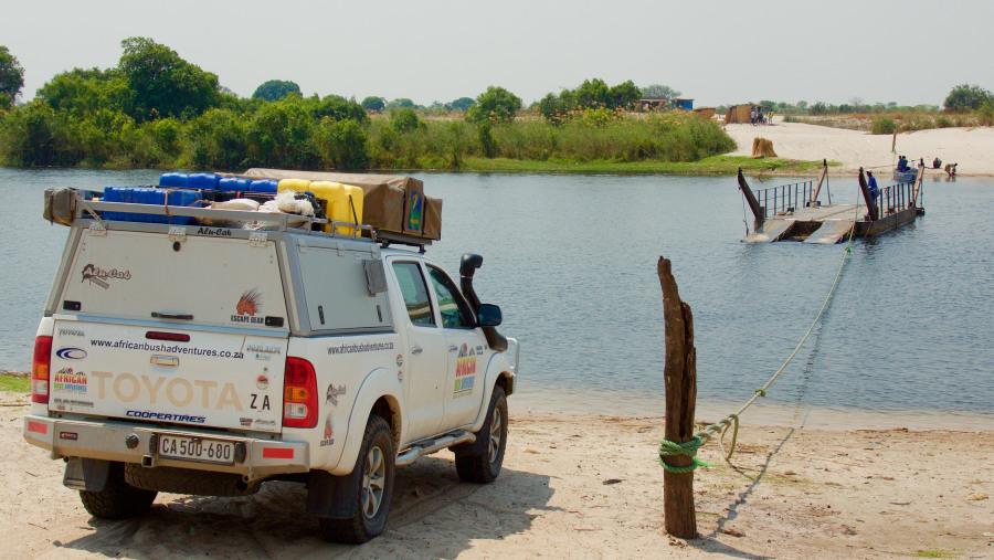 River crossing, Zambia