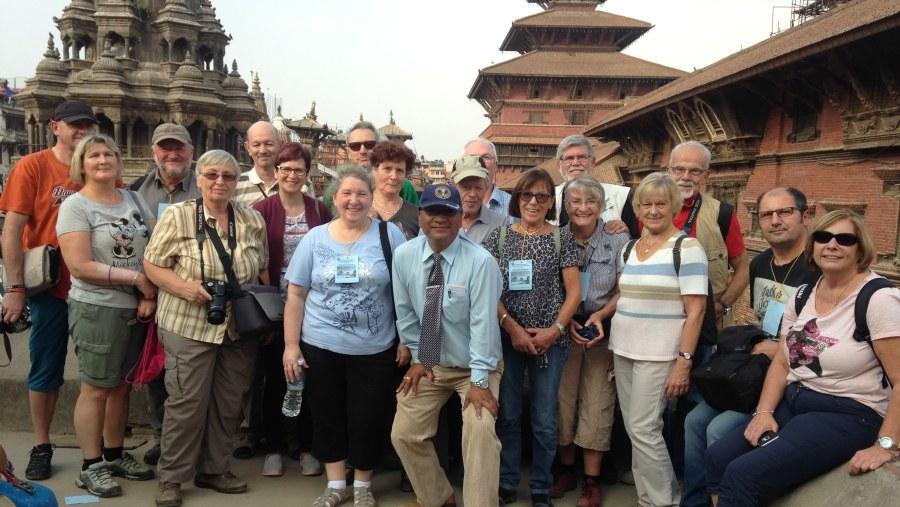 Group pic at patan durbar square
