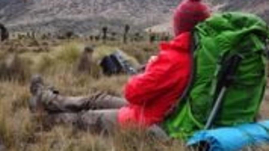 Trekking on Chogoria trek