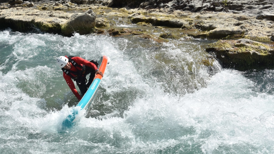 SUP in Vjosa