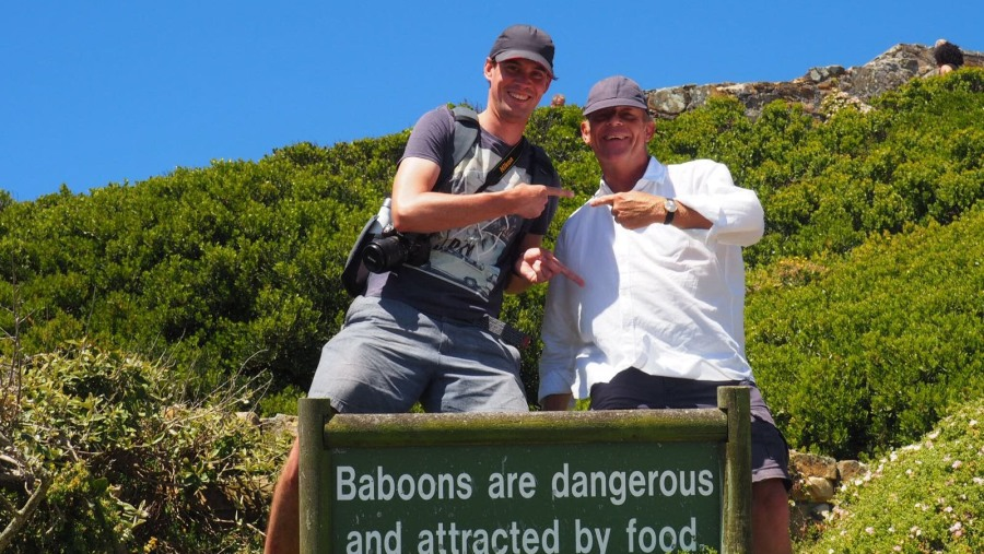 My Norwegian guest and I on our way to the Cape Point Light House