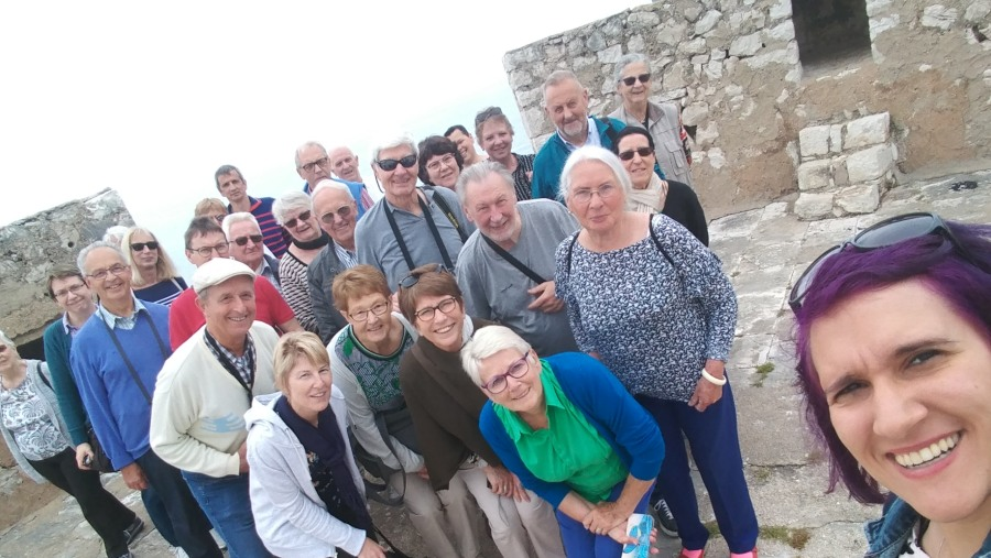 Group at Porto Palermo