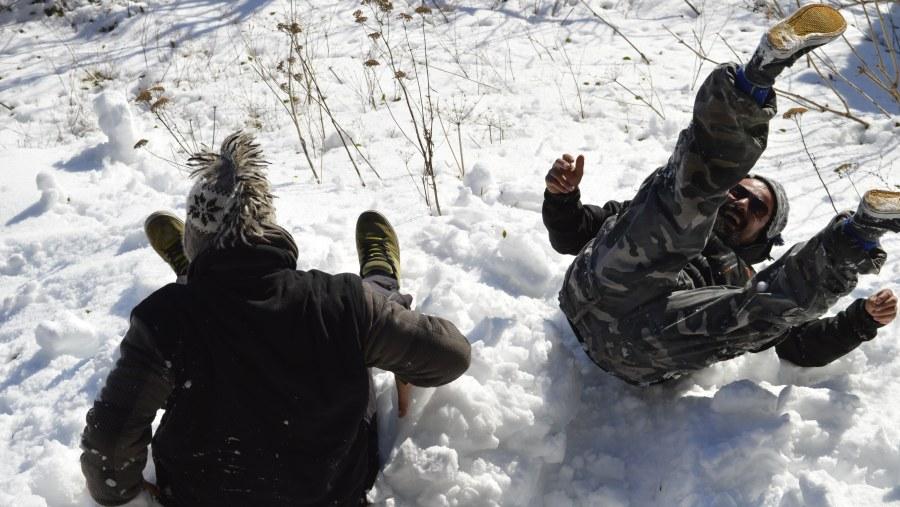 a bit fun in the snow
