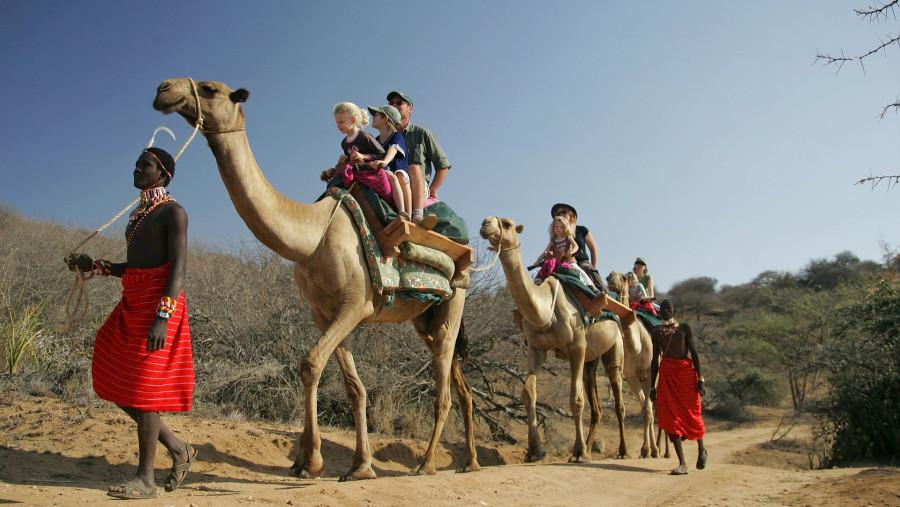 Camel ride - Family