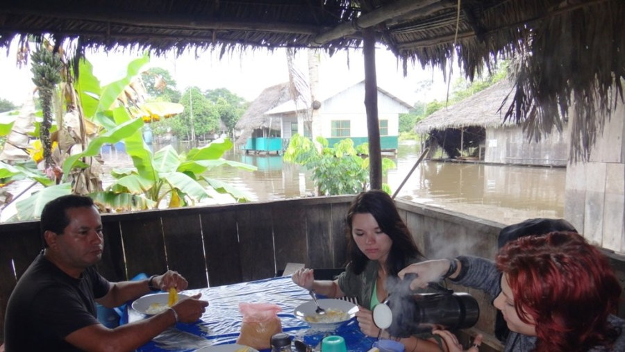 In village