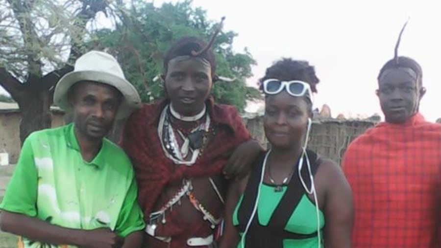 with Masai people